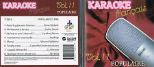 Karaoke CD+G Populaires Francais Vol.11 CDG BRAND NEW, MusicaMonette from Canada