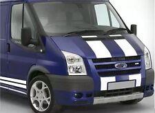 Blanco Ford Transit Sport Bonnet & Kit De Raya Lateral Calcomanías Pegatinas Gráficos