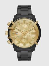 Diesel Griffed Chronograph Black Stainless Steel Men's Watch DZ4525