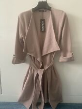 Boohoo Pink Duster Jacket With Belt Size 8 Small New With Tags