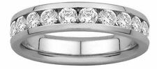 0.55ct ROUND BRILLIANT CUT DIAMONDS HALF ETERNITY WEDDING RING,9k WHITE GOLD