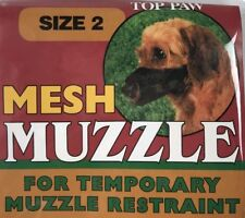 "Top Paw Dog Mesh Muzzle Size 2, No Barking Biting Chewing, 7-12 lbs, 4"" Nose Cir"