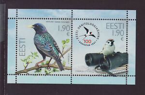 Estonia 2021 MNH - 100th Anniv of Estonian Ornithological Society - m/sheet