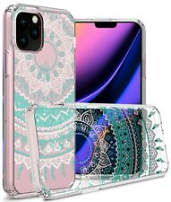 Clear Mandala Hybrid TPU Bumper Phone Cover Case For Apple iPhone 11 Pro Max