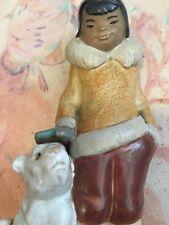 Lladro 2269 Eskimo Boy with Pet Gres! Original Box! Mint condition! L@K!