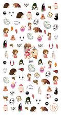 80 Spirited Away Studio Ghibli Nail Decals 3D Nail Art Stickers Manicure DIY