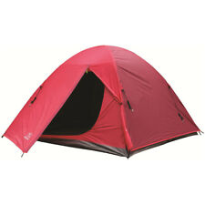 Highlander Birch 3 Personne Dome Tente Pitch Facile Randonnée Camping Rouge
