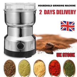 240V Electric Coffee Grinder Grinding Milling Bean Nut Spice Matte Blade Blender
