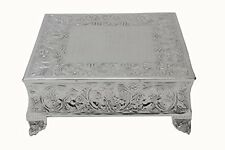 GiftBay Creations 751-20S Wedding Square Cake Stand, 20-Inch, Silver, New, Free