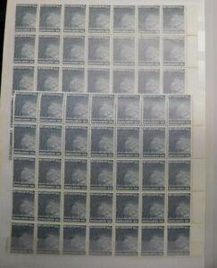 Bangladesh Old Stamps Partial Sheets, Scott# 49, MNH