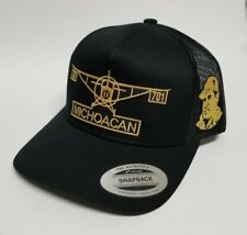 MICHOACAN   MEXICO EL AVION  HAT. MESH TRUCKER  BLACK   ADJUSTABLE NEW