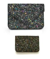 Urban Expressions Story Card Holder Vegan Leather Wallet Glittler Sparkle - NWT