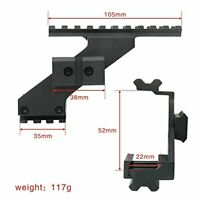 Tactical Gun Scope Mount with 20mm Weaver Picatinny Rail for Red Dot Laser Sight