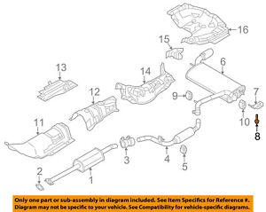 FORD OEM 12-18 Focus 2.0L-L4 Exhaust-Rear Muffler Screw W708951S442