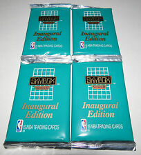 1990/91 Skybox NBA Basketball Series 2 15-Card Inaugural Edition 4 Pack Lot