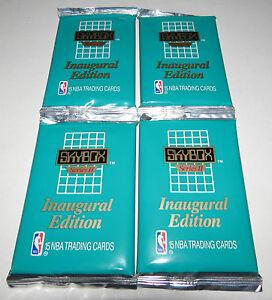 1990/91 Skybox NBA Basketball Series 2 15-Card Inaugural Edition 4-Pack Lot New
