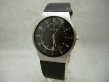 Authentic Skagen 233XXLSLB Men's Classic Leather Bracelet Men's Watch
