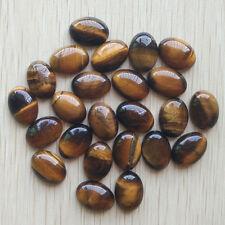 Wholesale 50pcs/lot natural tiger eye ston Oval CAB CABOCHON stone beads 13x18mm