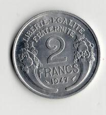 TOP QUALITE : MONNAIE DE 2 FRANCS MORLON ALUMINIUM DE 1947 @ SUPERBE QUALITE !!