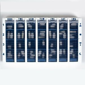 Pivotell Weekly Pill Medication Organiser - with easy open roller shutter