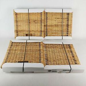 (Lot of 2) Ikea Branas Basket Rattan 001.384.32 Woven