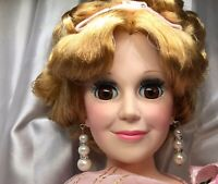 Triple Pearls / Rhinestones Repro Earrings Fits All Madame Alexander Dolls CC22