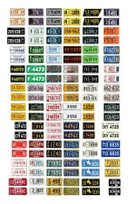 1/25 scale model car assorted vintage USA semi truck license plates state tags