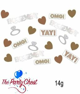 14GRAMS OMG! ENGAGEMENT CONFETTI MIX Gold Silver Metallic Party Decoration 02233