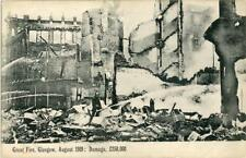 PRINTED POSTCARD OF THE GREAT FIRE, GLASGOW, AUGUST 1909, LANARKSHIRE, SCOTLAND