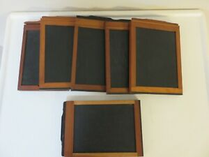 """Lot of 6 wooden Graphic Film Holders  5"""" x 7"""""""