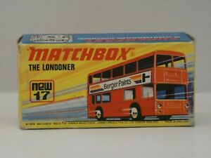 """MATCHBOX Superfast new17  Londoner """"Berger Paints""""-Mint In Box made in England"""