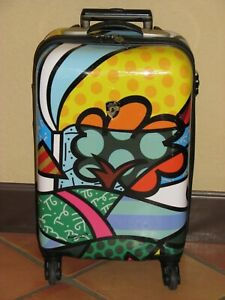 """Heys Romero Britto Collection Rolling Hard Shell Carry-On Travel Case 21"""""""