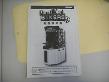 RADIKAL BIKERS SNK JAPANESE    original arcade game manual