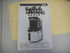 RADIKAL BIKERS SNK JAPANESE    original arcade game manual