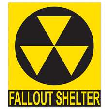"""Nuclear Fallout Shelter Sign car bumper sticker decal 5"""" x 4"""""""