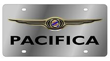New Chrysler Pacifica Gold Logo Stainless Steel License Plate
