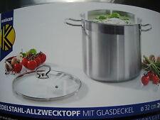 Allzwecktopf Suppentopf Edelstahl Kochtopf Topf 20 Liter 32 cm Ø Induktion Neu