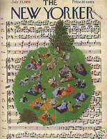1955 New Yorker July 23 - Summer Music in the Park