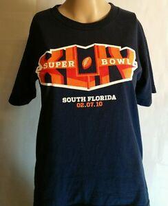 Reebok Super Bowl 44 T Shirt For Her Blue Size Medium South Florida 2/7/10