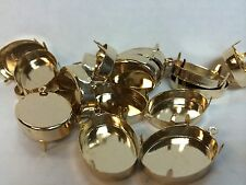 Non tarnishing gold plated pendant settings (blanks) lot of 18