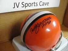 L#301 Bobby Mitchell autographed mini helmet, Cleveland Browns, HOF