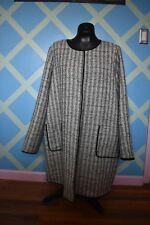 Persona by Marina Rinaldi Basketweave-effect duster coat Sz18 color dark beige