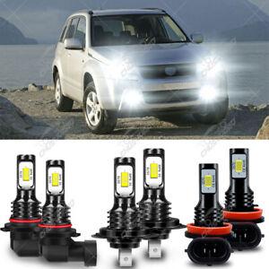 Para For Suzuki Grand Vitara 2006-2013 Kit combinado de faro LED +luz antiniebla