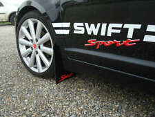 """RallyflapZ SUZUKI SWIFT ZC72S (2010+) Antibeccheggio Nero """"SPORT"""" LOGO ROSSO (4 mm PVC)"""