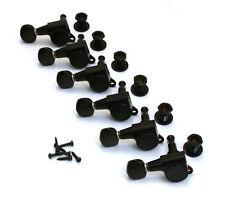 LEFTY Gotoh Black Sealed 6L Mini Tuners for Strat/Tele® Guitar TK-0760-L03
