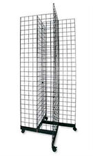 4 Way Wire Grid Tower in Black Finish 36 x 36 Inches
