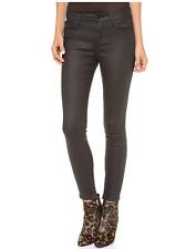 JOE'S JEANS Zip Skinny Ankle Coated Denim Jeans Kinley Dark Blue 26 $189 155