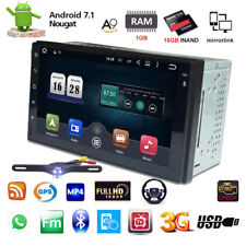 "Android 7.1 7"" 2Din 4G WIFI Car Radio Stereo MP5 Player GPS 16GB + Camera no-DVD"