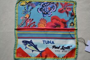 Paul Smith Mens Hawaiian Koi Tuna Silk Pocket Square Brand New