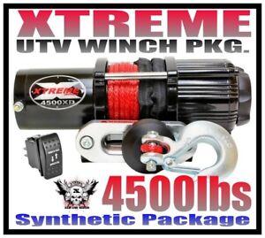 4500LB XTREME ATV WINCH KIT KAWASAKI 05-16 MULE 600 610 4500 LB